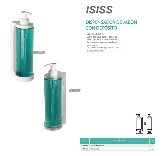 dispensador de jabon mini isiss