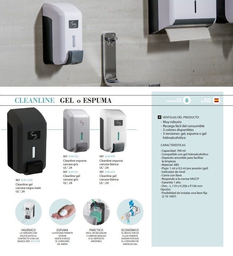 dispensador jabon espuma cleanline